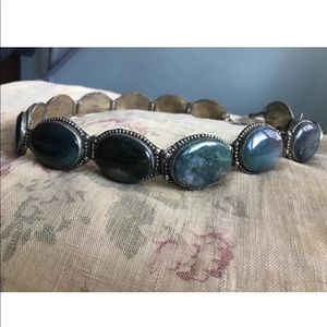 Accessories - Boho Vintage Large Agate Adjustable SouthWest Belt